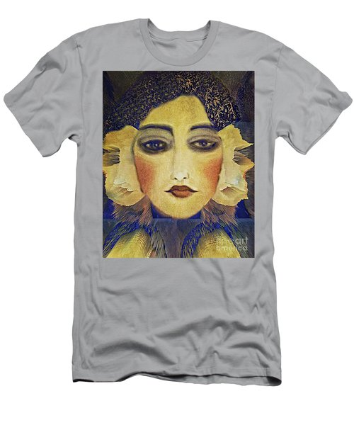 Men's T-Shirt (Slim Fit) featuring the digital art Art Deco  Beauty by Alexis Rotella