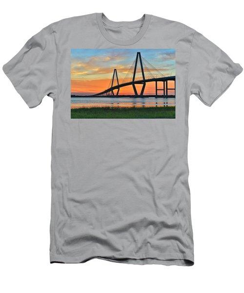 Arthur Ravenel Jr. Bridge At Dusk - Charleston Sc Men's T-Shirt (Athletic Fit)