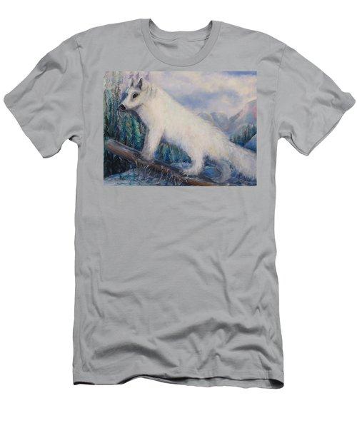 Artic Fox Men's T-Shirt (Slim Fit) by Bernadette Krupa