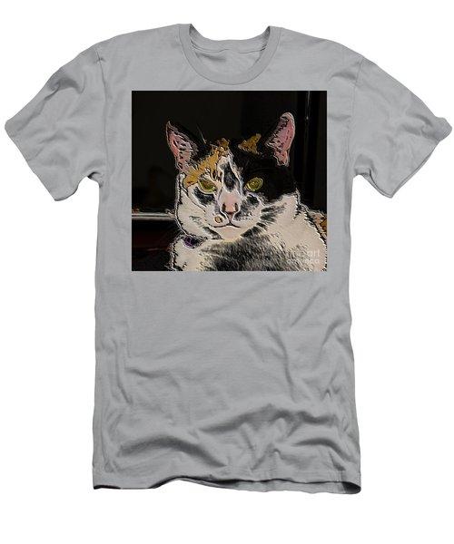 Artistic Cat Men's T-Shirt (Athletic Fit)