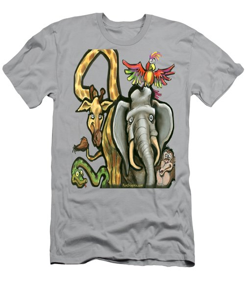 Zoo Animals Men's T-Shirt (Slim Fit) by Kevin Middleton