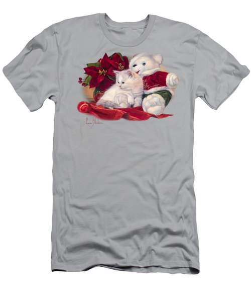 Christmas Kitten Men's T-Shirt (Slim Fit) by Lucie Bilodeau