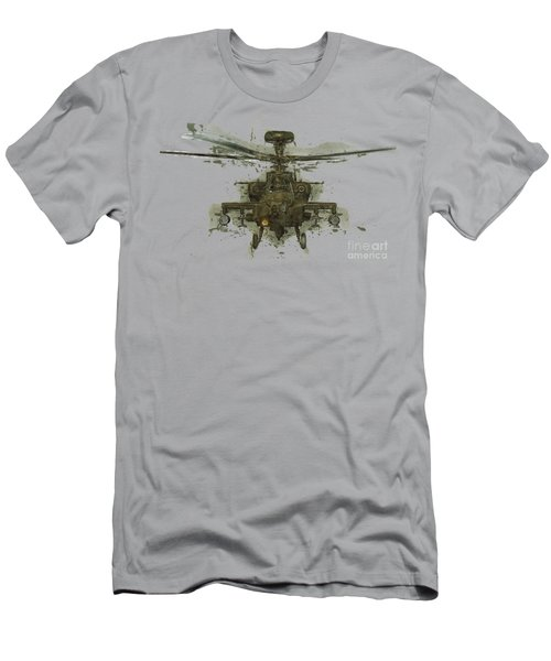 Apache Helicopter Abstract Men's T-Shirt (Slim Fit) by Roy Pedersen