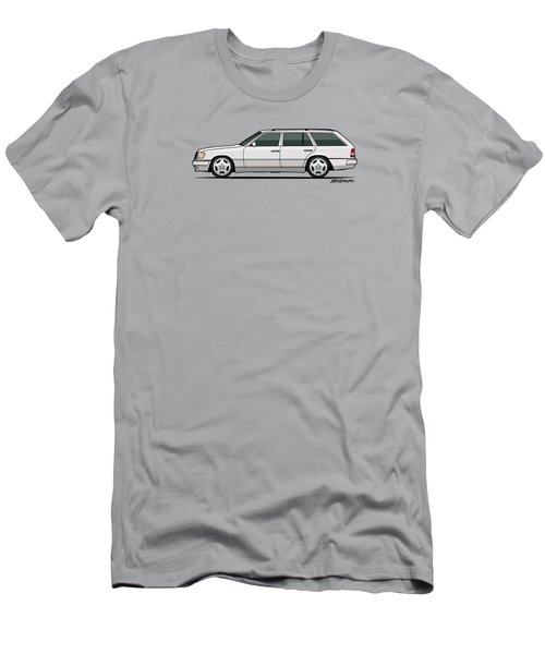 Mercedes Benz W124 T124 300te E-class White Estate Wagon Men's T-Shirt (Athletic Fit)