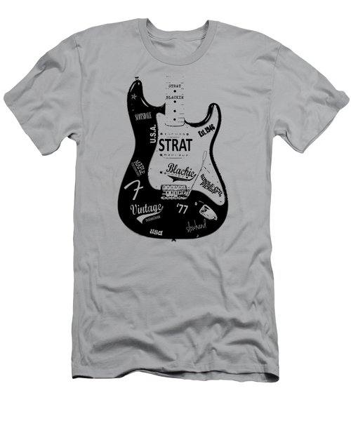 Fender Stratocaster Blackie 77 Men's T-Shirt (Slim Fit) by Mark Rogan