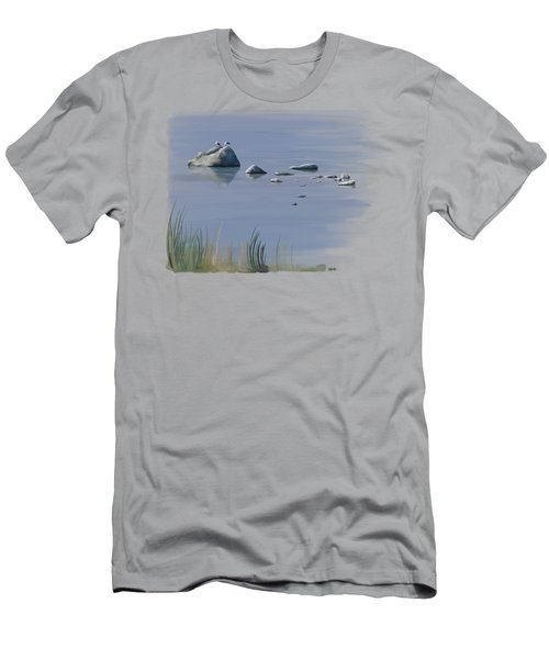 Men's T-Shirt (Athletic Fit) featuring the painting Gull Siesta by Ivana Westin