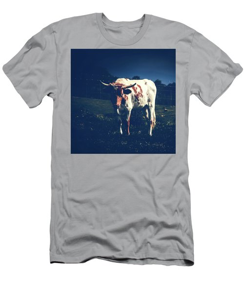 Men's T-Shirt (Slim Fit) featuring the photograph Midnight Encounter by Sharon Mau