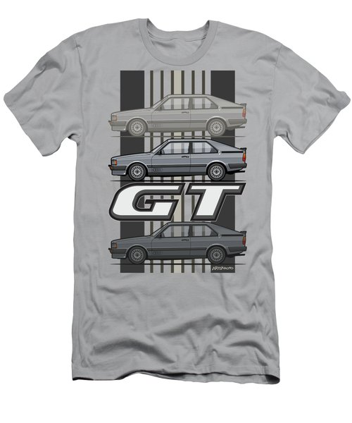 Four Rings Coupe Gt B2 Stone Grey Metallic Men's T-Shirt (Athletic Fit)