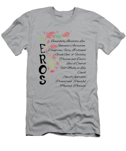 Eros-words Of Love Men's T-Shirt (Athletic Fit)