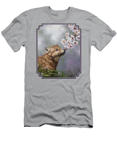 Wolf Pup - Baby Blossoms Men's T-Shirt (Athletic Fit)