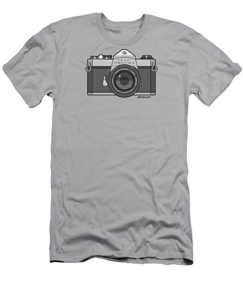 Asahi Pentax 35mm Analog Slr Camera Line Art Graphic Gray Men's T-Shirt (Athletic Fit)