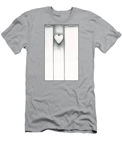 Men's T-Shirt (Athletic Fit) featuring the drawing Ascending Heart by James Lanigan Thompson MFA