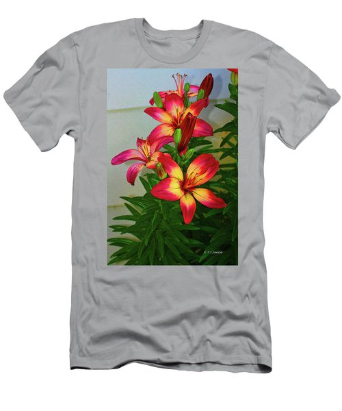 Asian Lilly Spring Time Men's T-Shirt (Athletic Fit)