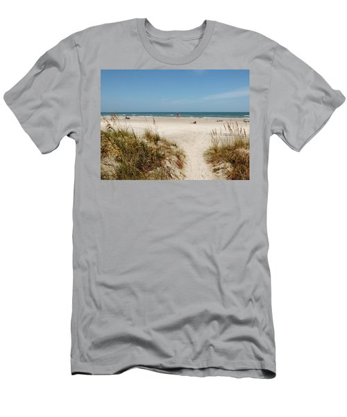 On The Beach Men's T-Shirt (Slim Fit) by Amar Sheow
