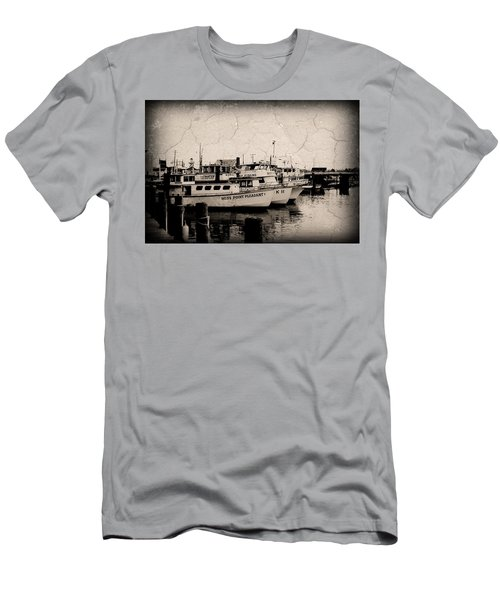 Men's T-Shirt (Athletic Fit) featuring the photograph At The Marina - Jersey Shore by Angie Tirado