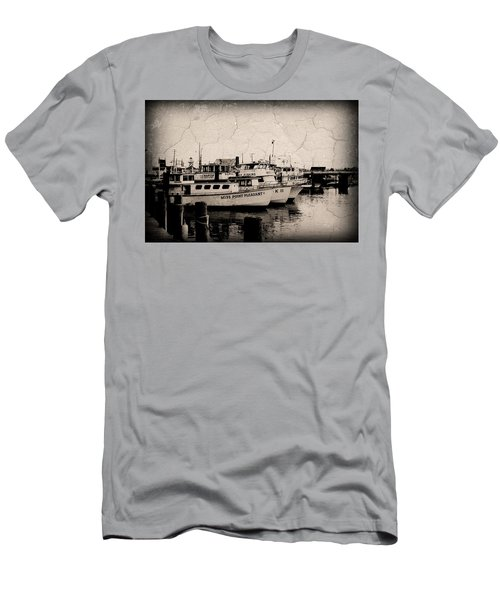 At The Marina - Jersey Shore Men's T-Shirt (Athletic Fit)