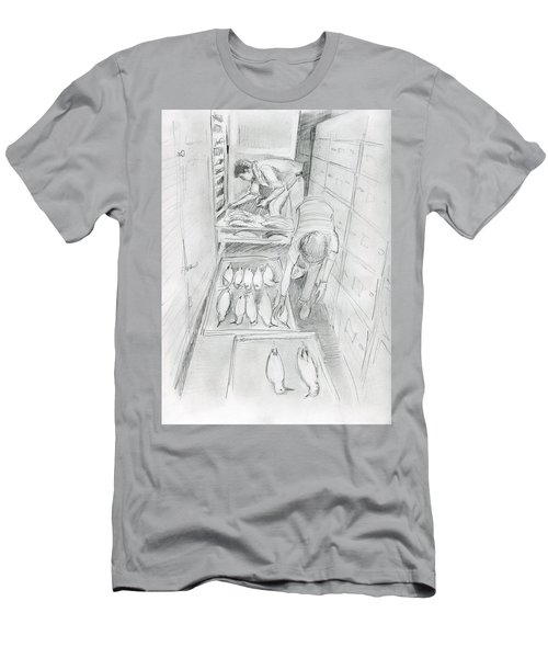 At The Museum I Men's T-Shirt (Athletic Fit)