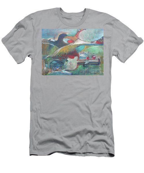 At The Sea Shore Men's T-Shirt (Athletic Fit)