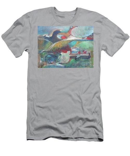 At The Sea Shore Men's T-Shirt (Athletic Fit)