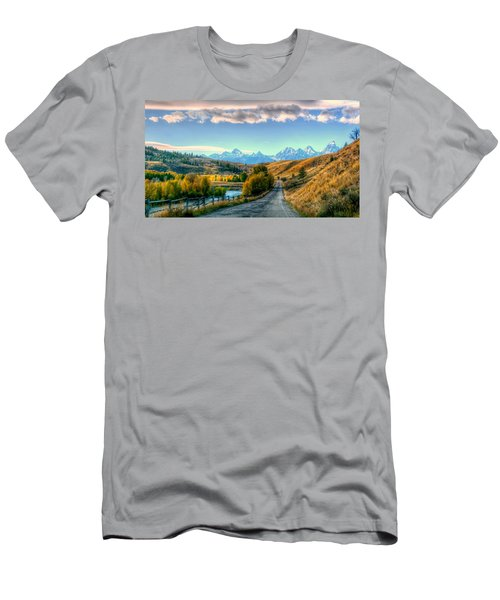 Atherton View Of Tetons Men's T-Shirt (Athletic Fit)