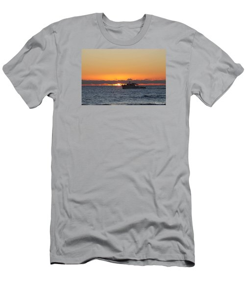 Atlantic Ocean Fishing At Sunrise Men's T-Shirt (Slim Fit) by Robert Banach
