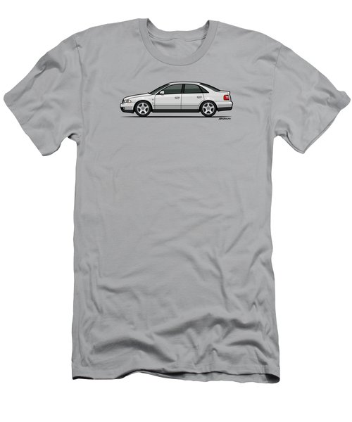 Audi A4 Quattro B5 Type 8d Sedan White Men's T-Shirt (Athletic Fit)
