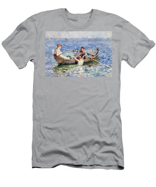 August Blue Men's T-Shirt (Athletic Fit)