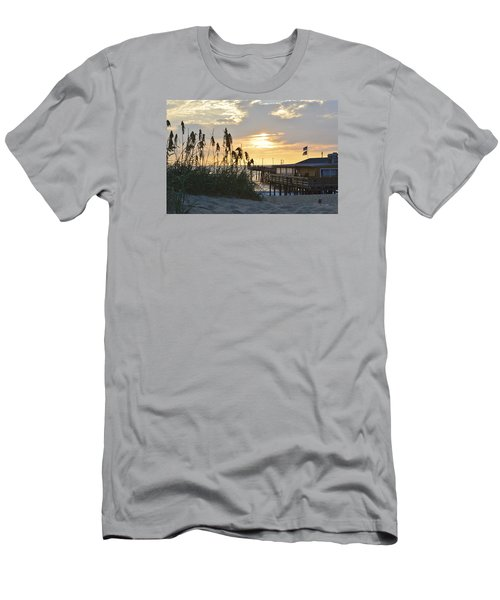 August Sunrise On The Obx  Men's T-Shirt (Athletic Fit)