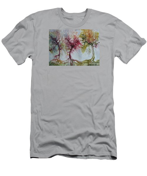 Men's T-Shirt (Slim Fit) featuring the painting Autumn Colors by Elena Oleniuc