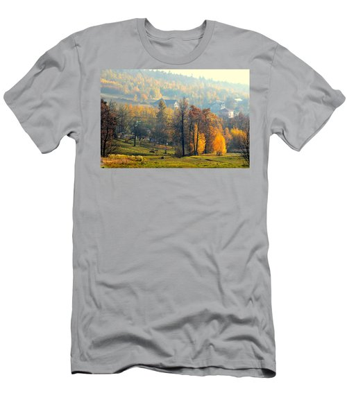 Autumn Morning Men's T-Shirt (Slim Fit) by Henryk Gorecki