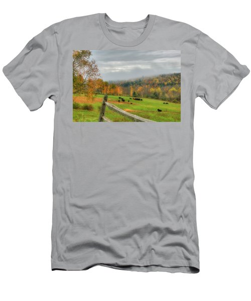 Men's T-Shirt (Athletic Fit) featuring the photograph Autumn Pasture -  by Joann Vitali