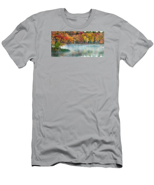 Autumn Pond Men's T-Shirt (Slim Fit) by Brian Caldwell