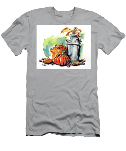 Men's T-Shirt (Slim Fit) featuring the painting Autumn Still Life 2 by Terry Banderas