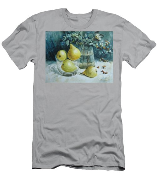 Men's T-Shirt (Slim Fit) featuring the painting Autumn Still Life 3 by Elena Oleniuc