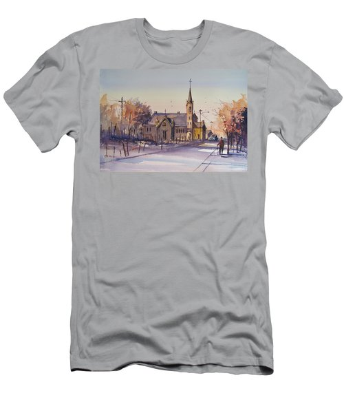 Autumn Stroll In Kaukauna Men's T-Shirt (Athletic Fit)
