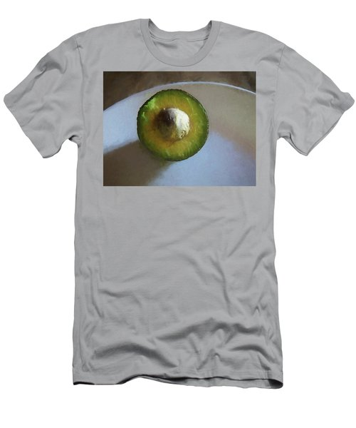 Men's T-Shirt (Athletic Fit) featuring the mixed media Avocado In Morning Light  by Lynda Lehmann