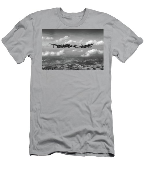 Men's T-Shirt (Athletic Fit) featuring the photograph Avro Sisters Bw Version by Gary Eason