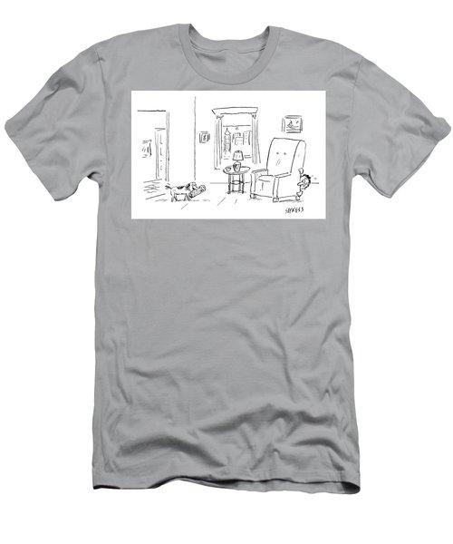 Awaiting Todays News Men's T-Shirt (Athletic Fit)