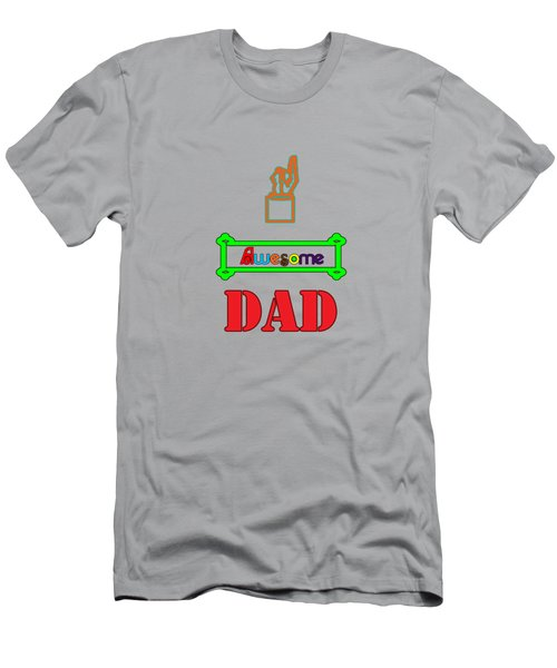 Men's T-Shirt (Athletic Fit) featuring the digital art Awesome Dad by Judy Hall-Folde