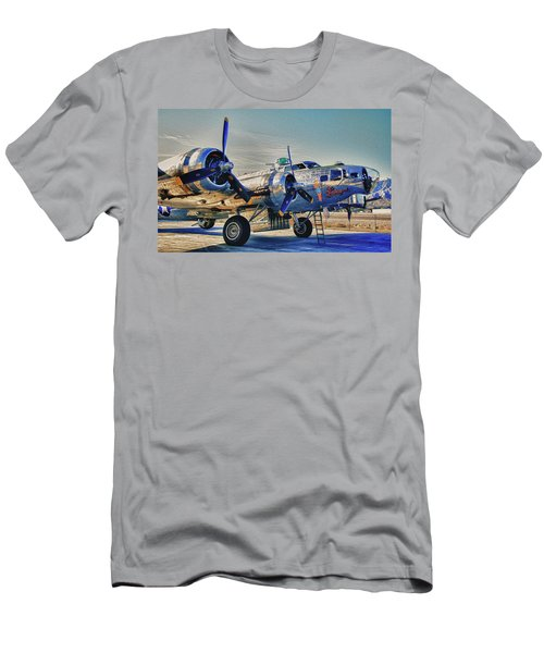 B17 Flying Fortress Sentimental Journey Men's T-Shirt (Athletic Fit)