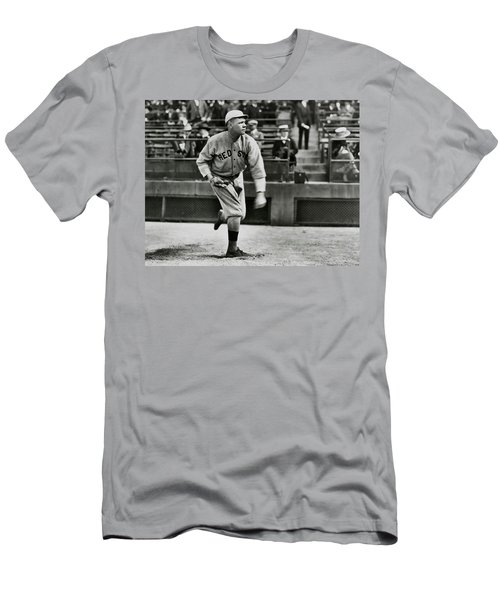 Babe Ruth - Pitcher Boston Red Sox  1915 Men's T-Shirt (Slim Fit) by Daniel Hagerman