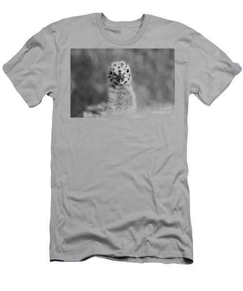 Men's T-Shirt (Athletic Fit) featuring the photograph  Baby Seagull Spots    by John F Tsumas