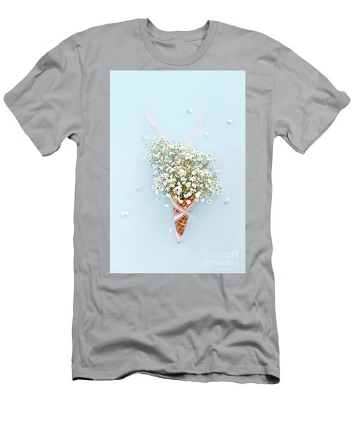 Men's T-Shirt (Slim Fit) featuring the photograph Baby's Breath Ice Cream Cone by Stephanie Frey