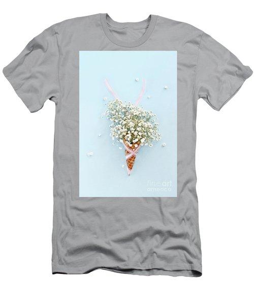 Baby's Breath Ice Cream Cone Men's T-Shirt (Slim Fit) by Stephanie Frey