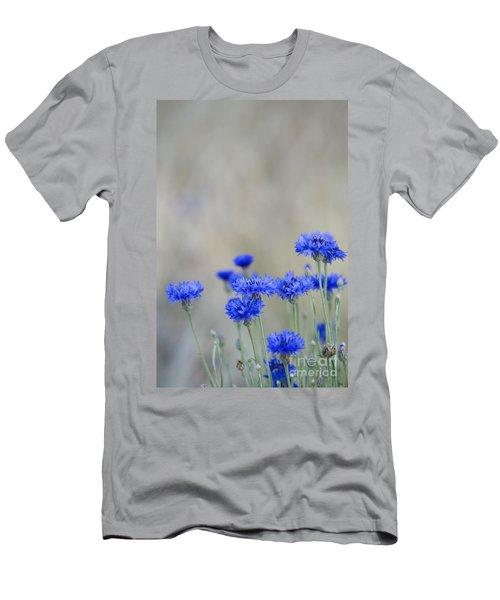 Bachelors Buttons Flowering Men's T-Shirt (Athletic Fit)