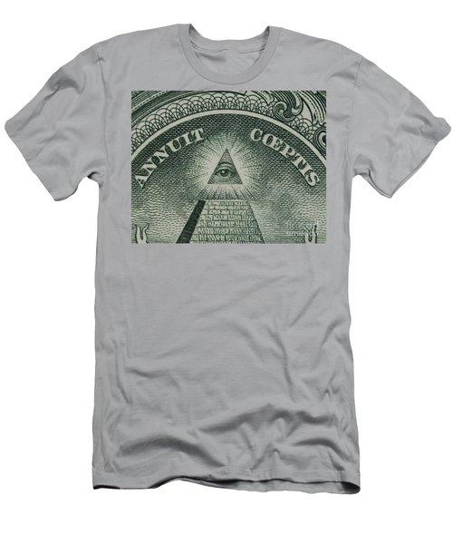Back Of 1 Dollar Bill Men's T-Shirt (Athletic Fit)