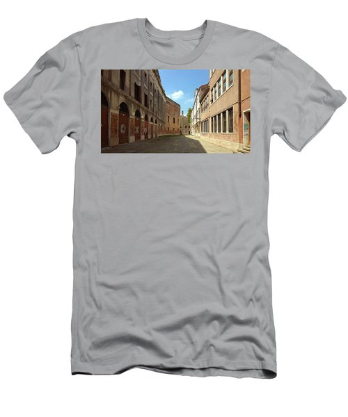 Men's T-Shirt (Athletic Fit) featuring the photograph Back Street In Venice by Anne Kotan