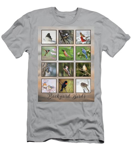 Men's T-Shirt (Slim Fit) featuring the photograph Backyard Birds by Lori Deiter