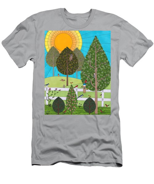 Backyard Gathering Men's T-Shirt (Athletic Fit)