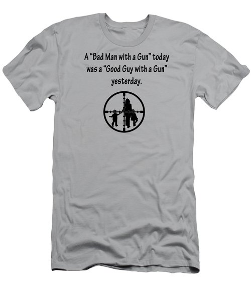 Bad Man With A Gun Men's T-Shirt (Athletic Fit)